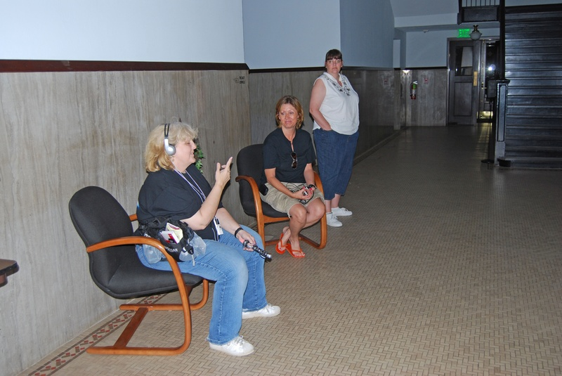 A few team members doing an EVP session at the MPAC